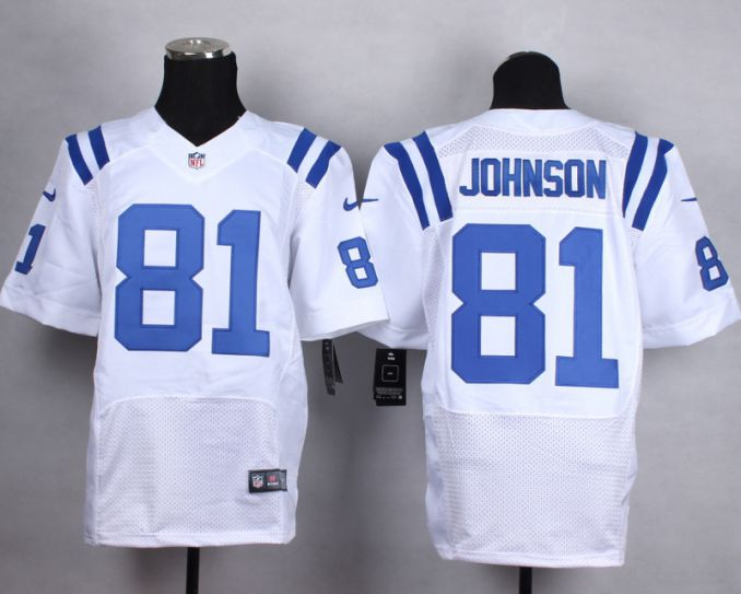 NFL Detroit Lions 81 Johnson white Elite Nike jerseys