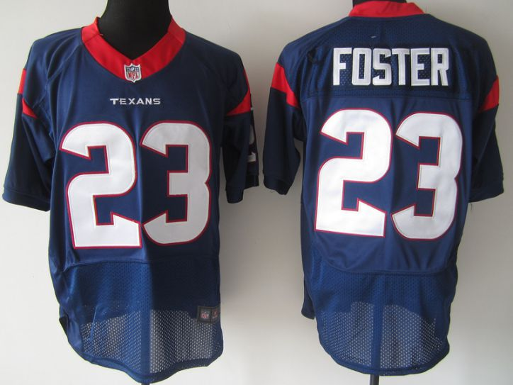 NFL Houston Texans 23 Foster blue elite nike jerseys