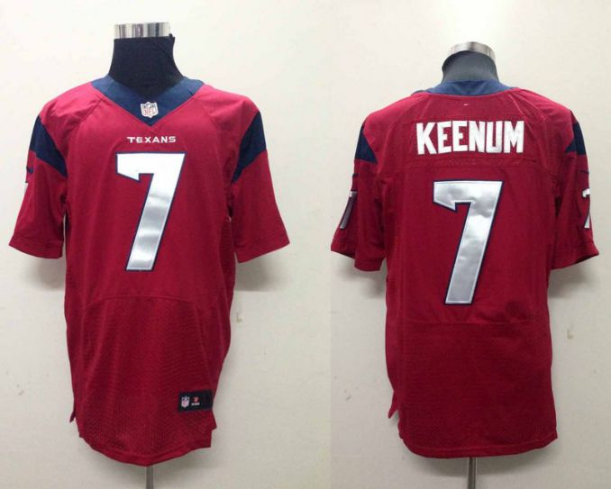 NFL Houston Texans 7 Keenum red Nike Elite Jerseys