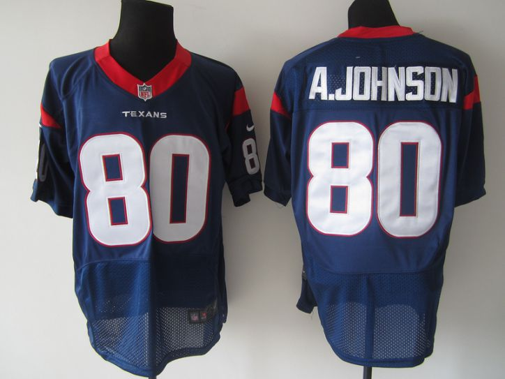 NFL Houston Texans 80 A.johnson Blue Nike elite Jersey