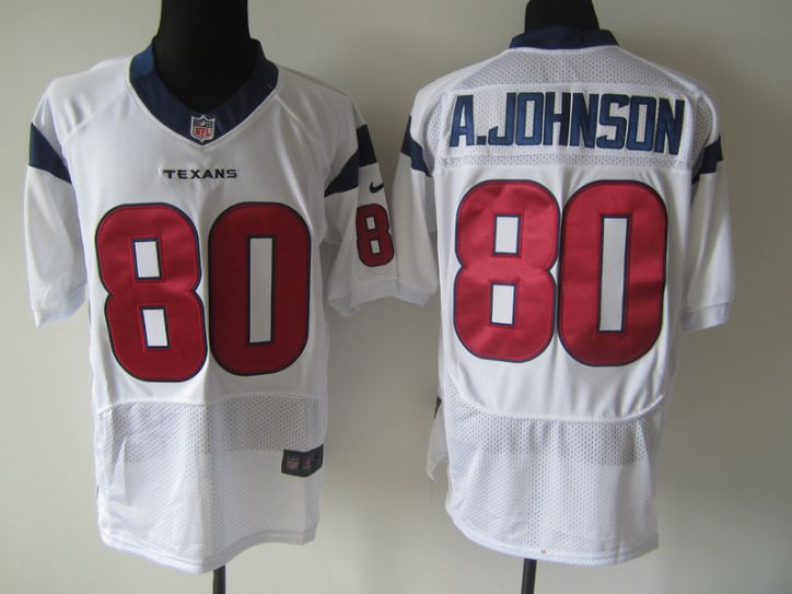 NFL Houston Texans 80 A.johnson white Nike elite Jersey