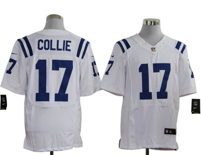 NFL Indianapolis Colts 17 Collie white Nike elite Jerseys