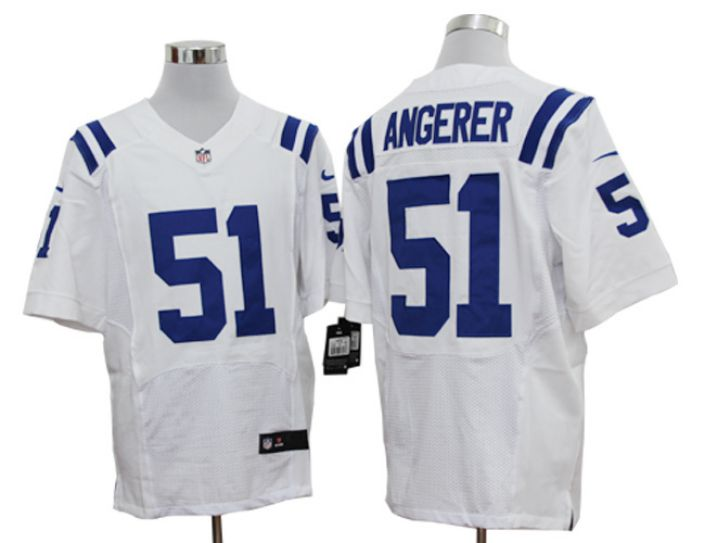 NFL Indianapolis Colts 51 Angerer white Nike Elite Jersey