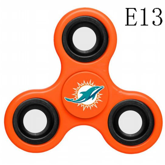 NFL MIAMI DOLPHINS 3-Way Fidget Spinner E13