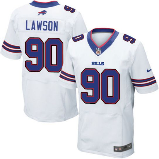 NFL Men Buffalo Bills 90 Lawson Nike white Elite Jersey