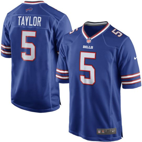 NFL Men Buffalo Bills Tyrod Taylor Nike blue Game Jersey