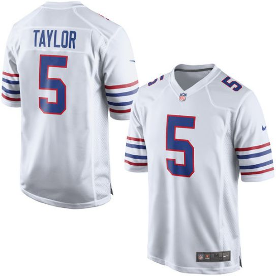 NFL Men Buffalo Bills Tyrod Taylor Nike white Game Jersey