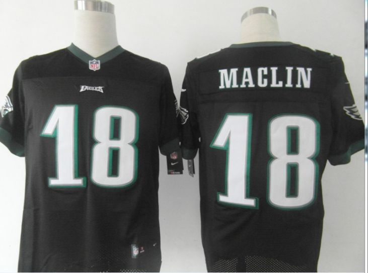 NFL Philadelphia Eagles 18 Maclin black Nike Elite Jersey