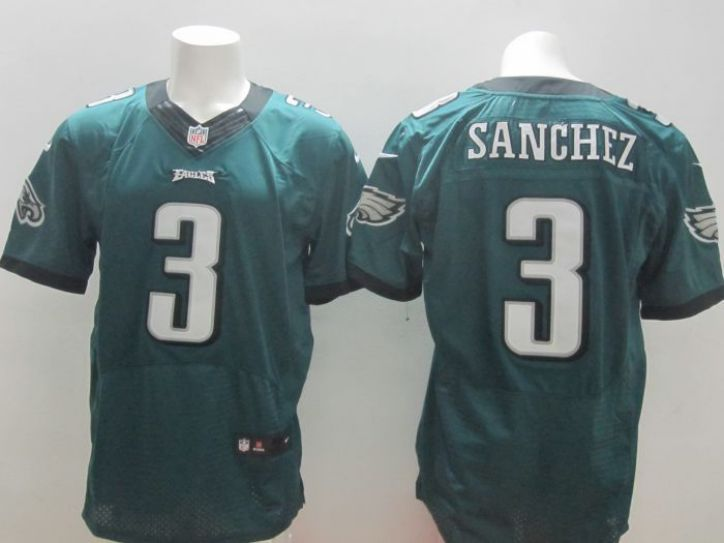 NFL Philadelphia Eagles 3 Sanchez green elite jersey