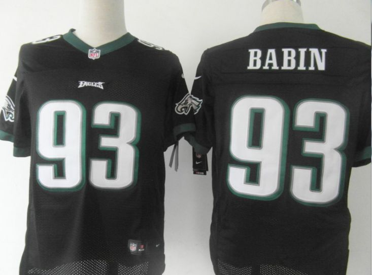 NFL Philadelphia Eagles 93 Babin black Nike Elite Jersey