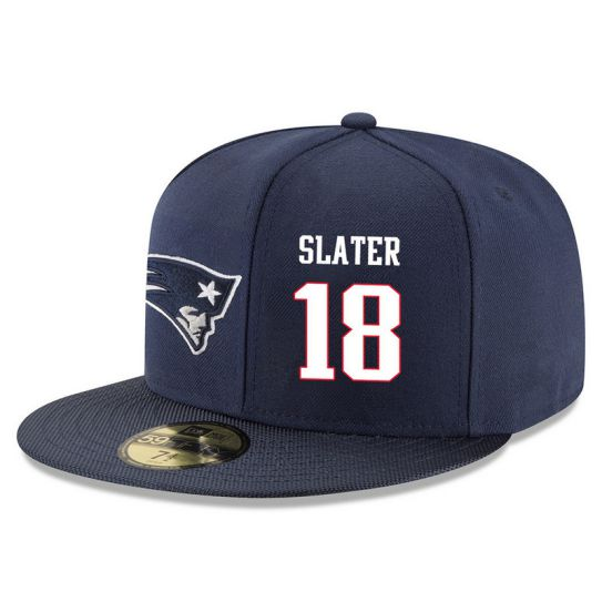 New England Patriots 18 Slater Blue NFL Hat