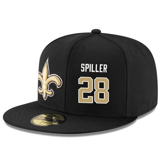 New Orleans Saints 28 Spiller Black NFL Hat