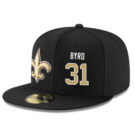 New Orleans Saints 31 Byrd Black NFL Hat
