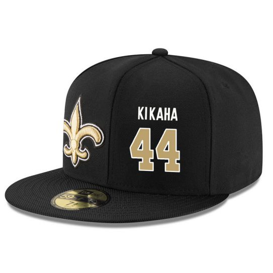 New Orleans Saints 44 Kikaha Black NFL Hat