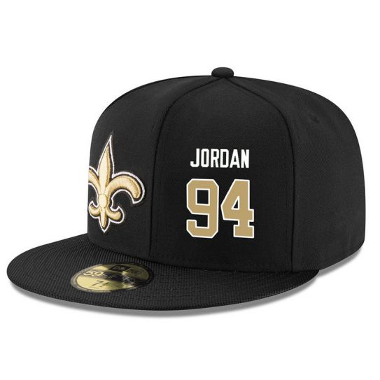 New Orleans Saints 94 Jordan Black NFL Hat