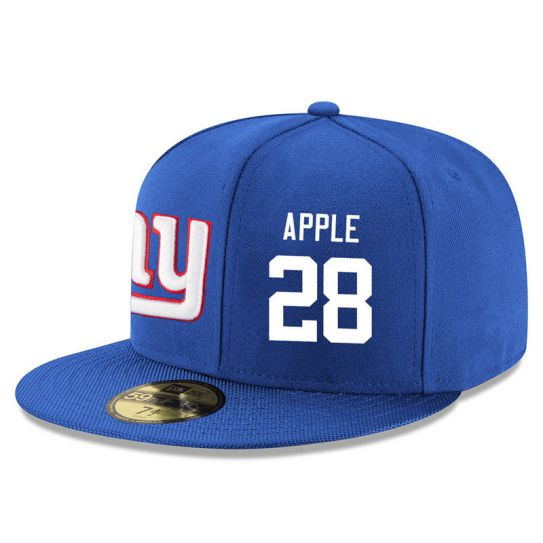 New York Giants 28 Apple Blue NFL Hat