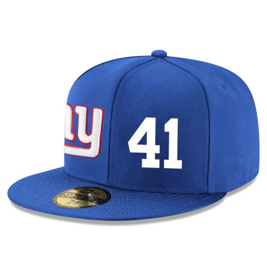 New York Giants 41 No Name Blue NFL Hat