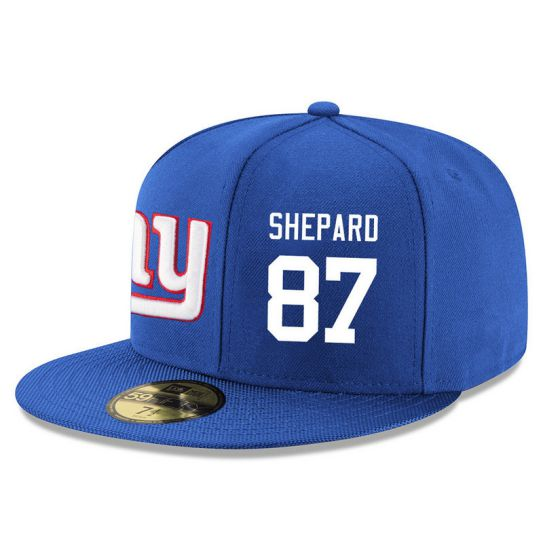 New York Giants 87 Shepard Blue NFL Hat