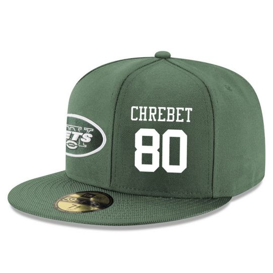New York Jets 80 Chrebet Green NFL Hat