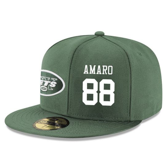 New York Jets 88 Amaro Green NFL Hat