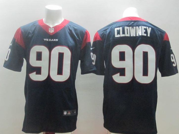 Nike NFL Houston Texans 90 Jadeveon Clowney blue elite jerseys