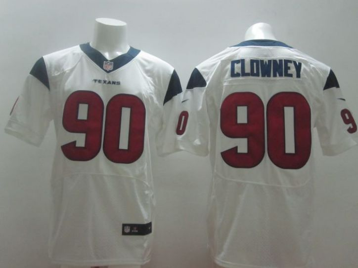 Nike NFL Houston Texans 90 Jadeveon Clowney white elite jerseys