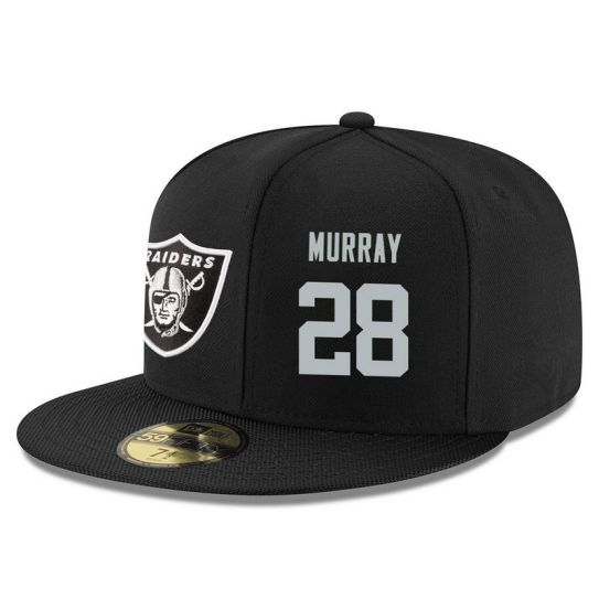 Oakland Raiders 28 Murray Black NFL Hat