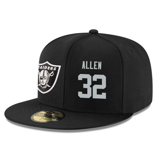 Oakland Raiders 32 Allen Black NFL Hat