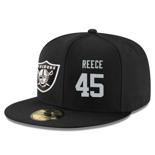 Oakland Raiders 45 Reece Black NFL Hat