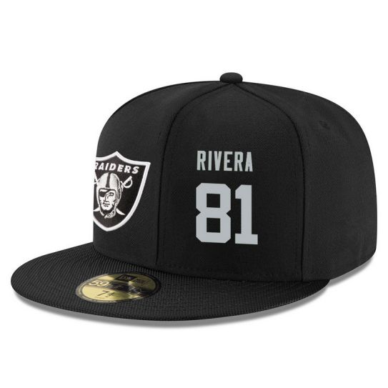 Oakland Raiders 81 Rivera Black NFL Hat