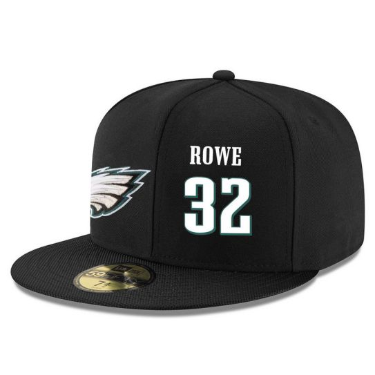 Philadelphia Eagles 32 Rowe Black NFL Hat