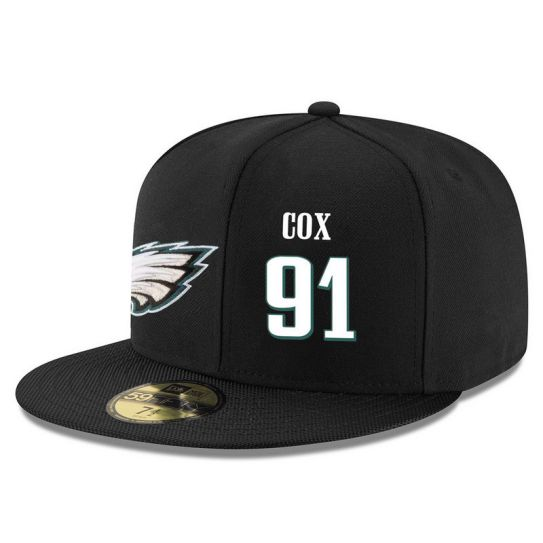 Philadelphia Eagles 91 Cox Black NFL Hat