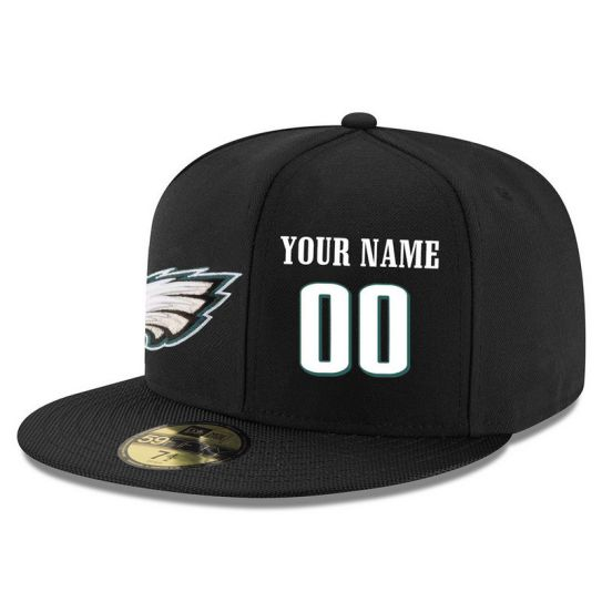 Philadelphia Eagles Custom Black NFL Hat