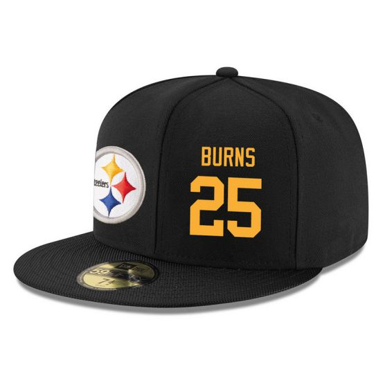 Pittsburgh Steelers 25 Burns Black NFL Hat