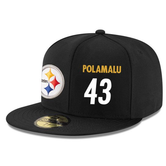 Pittsburgh Steelers 43 Polamalu NFL Hat