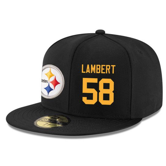 Pittsburgh Steelers 58 Lambert Black NFL Hat