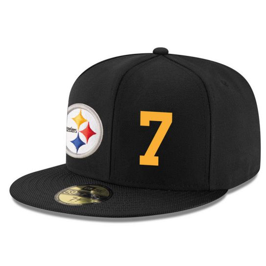 Pittsburgh Steelers 7 No Name Black NFL Hat
