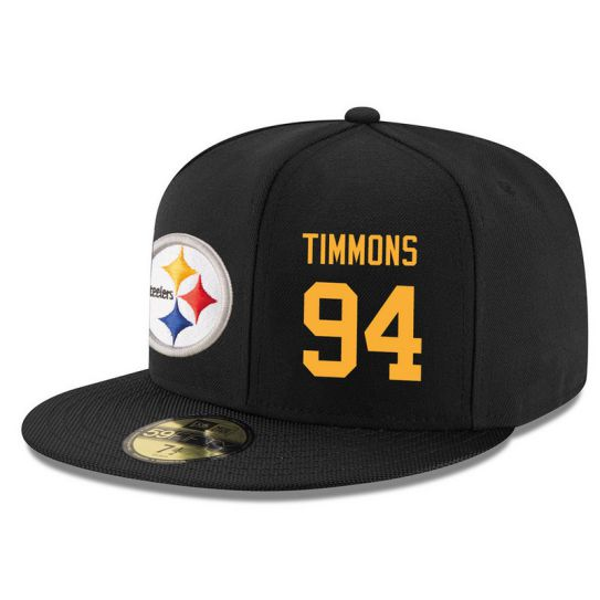 Pittsburgh Steelers 94 Timmons Black NFL Hat