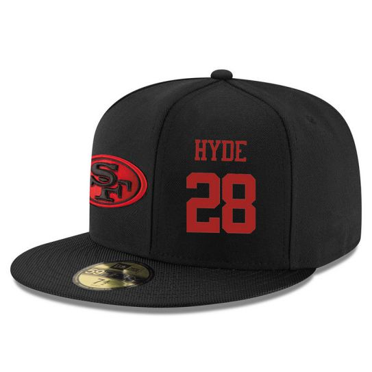 San Francisco 49ers 28 Hyde NFL Hat
