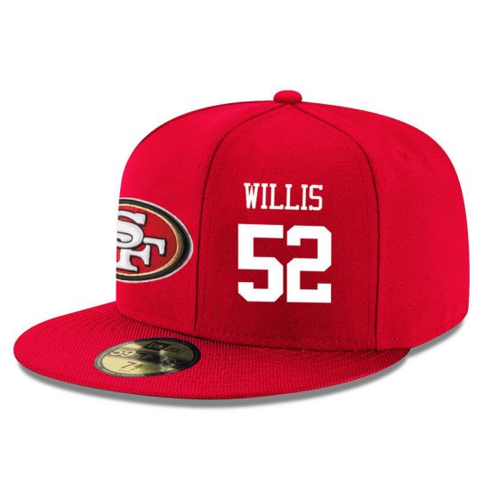 San Francisco 49ers 52 Willis Red NFL Hat