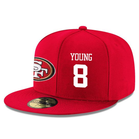 San Francisco 49ers 8 Young Red NFL Hat