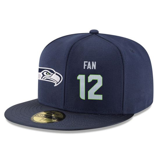 Seattle Seahawks 12 Fan Blue NFL Hat