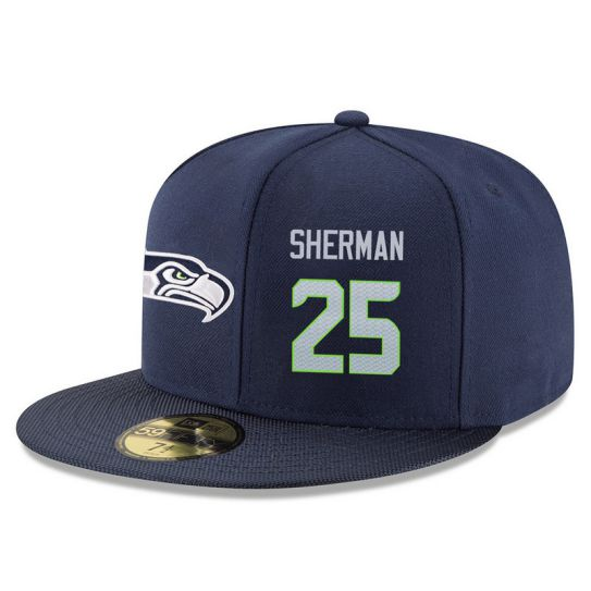 Seattle Seahawks 25 Sherman Blue NFL Hat