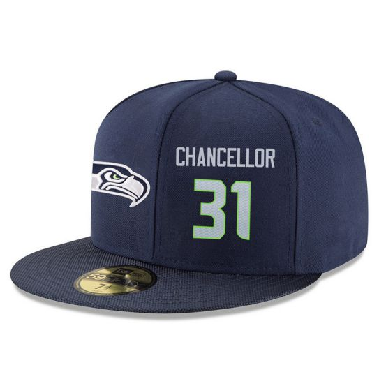 Seattle Seahawks 31 Chancellor Blue NFL Hat