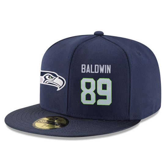 Seattle Seahawks 89 Baldwin Blue NFL Hat