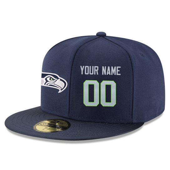 Seattle Seahawks Custom Blue NFL Hat