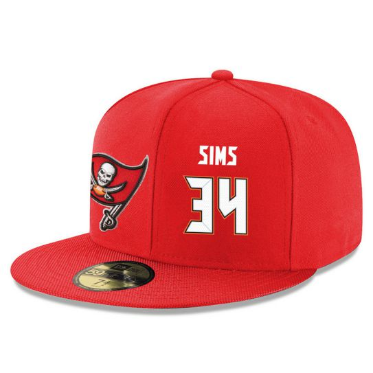 Tampa Bay Buccaneers 34 Sims Red NFL Hat