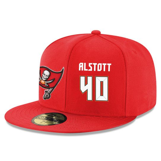 Tampa Bay Buccaneers 40 Alstott Red NFL Hat