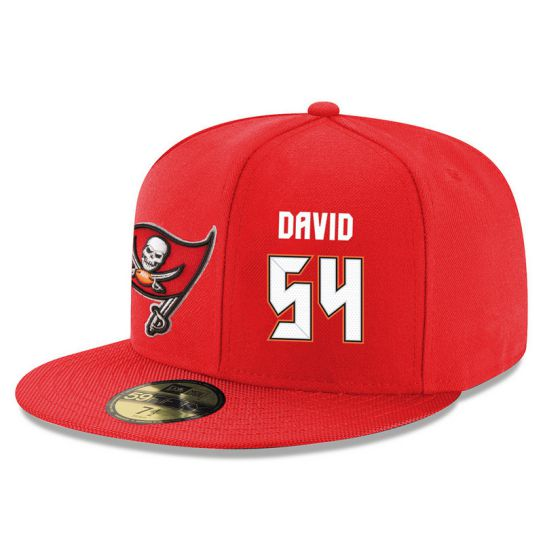 Tampa Bay Buccaneers 54 David Red NFL Hat