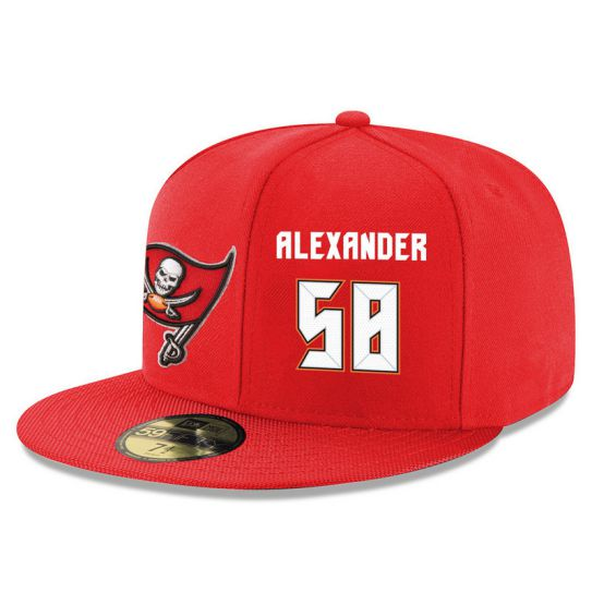 Tampa Bay Buccaneers 58 Alexander Red NFL Hat
